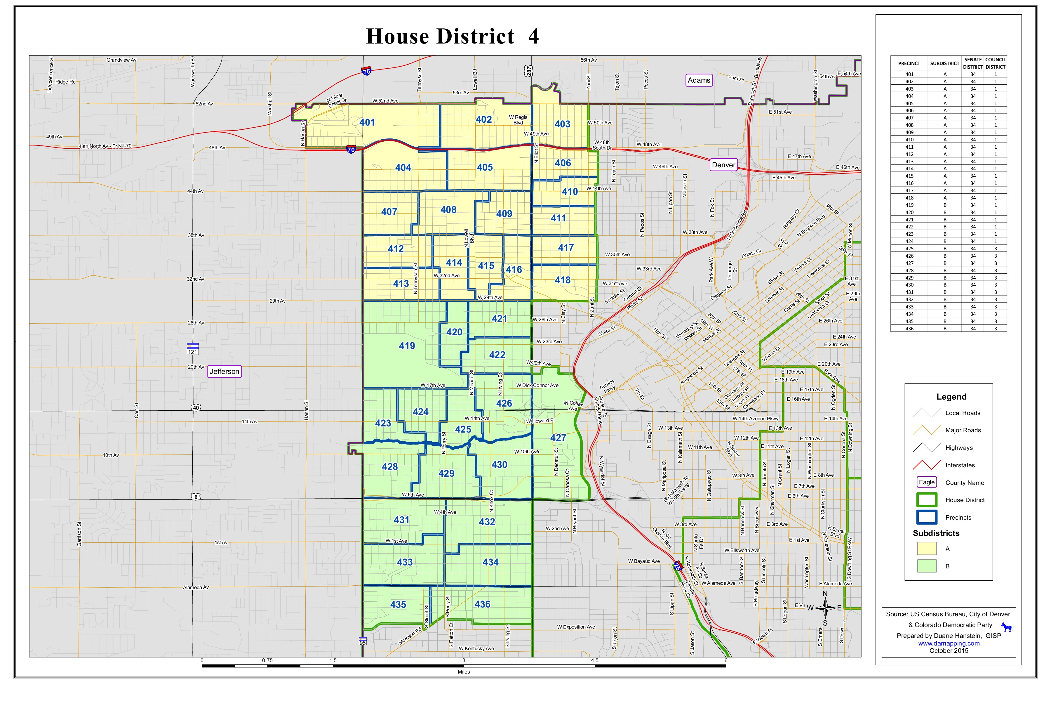 Colorado House District Map House District 4 Map | Democratic Party of Denver